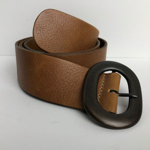 Belt from The Limited Italian Leather Brown Sz M